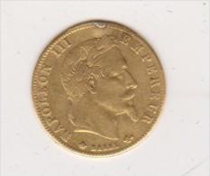 5 Francs Or  Napoléon III  Tête  Laurée 1862  A - Or