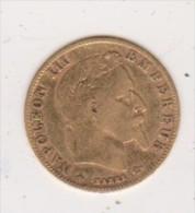 5 Francs Or  Napoléon III  Tête  Laurée 1863  A - Or