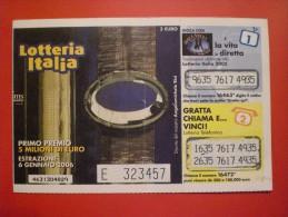 """BIGLIETTO LOTTERIA NAZIONALE ITALIA 2005 """" - Lottery Tickets"""