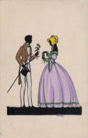 AK SILHOUETTE  SCHATTEN PAARE  SIGNIERT KARTEN KUNSTVERLAG : BERLINS.W. 68. ANSICHTSKARTEN 1920 - Silhouettes