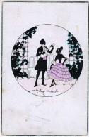 AK SILHOUETTE  SCHATTEN PAARE WECO Nr.540. ANSICHTSKARTEN 1922 - Silhouettes