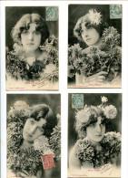 THMS Bergeret Lot De 4 Cartes Fleurs D'hiver - Bergeret