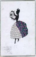 AK SILHOUETTE  SCHATTEN .Mädchen Mit Zwei Vögel Im Käfig WECO Nr. 538. ANSICHTSKARTEN 1925 - Silhouettes