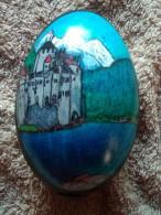 Oeuf D`oie Avec Thème (Gänseei Mit Motiv) : Chateau Chillon  ( Schloß Chillon ) - Kreative Hobbies