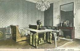 78 Yvelines VERSAILLES Colection CHOCOLAT LOUIT  No78 Musée Du Grand Trianon Lit De Mapolèon 1er    Glacée En Couleur - Versailles (Château)