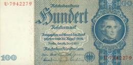 Deutschland, Germany - 100 Reichsmark, Ro. 176 B , ( Serie B/U ) 1936 - 1948 ! - [ 4] 1933-1945: Derde Rijk