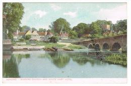 RB 1021 - Early Postcard - Sonning Church & White Hart Hotel - Near Reading Berkshire - Inghilterra