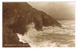 RB 1021 - Early Judges Real Photo Postcard - The Black Rock Cliffs - Criccieth Caernarvonshire Wales - Caernarvonshire