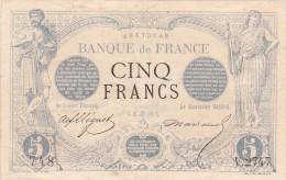 RARE !!! Billet De 5 Francs NOIR En SUP Du 27 Juin 1873 Cancer - V 2747 Alph 748 @ 2 Scans - N° Fayette : 1 - 1871-1952 Antiguos Francos Circulantes En El XX Siglo