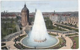 MANNHEIM Friedrichsplatz Fontäne Color 23.1.1926 Gelaufen - Mannheim