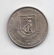 MONTSERRAT 4 DOLARES 1970 - Monedas & Billetes