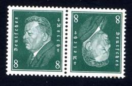 DEUTSCHES REICH 1928-32, Yvert 403a*, PRESIDENT, TETE-BECHE, NEUFS* / Mint, TRACE SUR GOMME - Germany