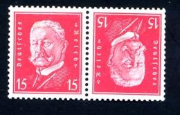DEUTSCHES REICH 1928-32, Yvert 405a**, PRESIDENT, TETE-BECHE, NEUFS** / MNH - Germany