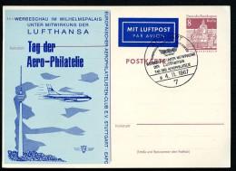 P70 ZC2 Postkarte Zudruck AERO-PHILATELIE Sost. Stuttgart 1967  NGK 6,00 € - Private Postcards - Used