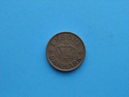 1941 N GJ - 1 Krone / KM 824.2 ( Uncleaned Coin - For Grade, Please See Photo ) !! - Danemark