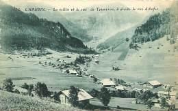 Haute Savoie - Ref- U 294 - Charmy - La Vallee Et Le Roc De Tavaneuse - A Droite Le Roc D Enfer - Carte Bon Etat - - Andere Gemeenten