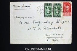 Italy: Cover Firenze To The Hague Holland, 1938 Mixed Stamps, Sa 422 And Pair 428 - 1900-44 Vittorio Emanuele III