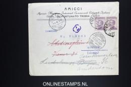Italy: Cover  Torino To Amsterdam 1925 Sa 85 Pair, Late Use,  Address Changed - 1900-44 Vittorio Emanuele III