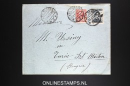 Italy: Cover Milano To Turoc Hungary, Mixed Stamps 1313 With Letter Inside - 1900-44 Vittorio Emanuele III