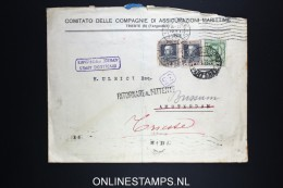 Italy: Registered Company Cover Trieste To Amsterdam / Bussemm , Holland 1928 Adresse Insuffisante Cancel - 1900-44 Vittorio Emanuele III