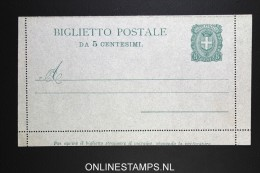 Italy: Biglietto Postale 5 C Not Used