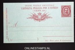 Italy: Cartolina Sa 17A Not Used  1889 - Postwaardestukken