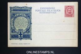 Italy: Cartolina Esposizione Postale Filatelica Int. Milano 1894 Not Used