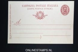 Italy: Cartolina Postal  SA 28 E Unused - Postwaardestukken