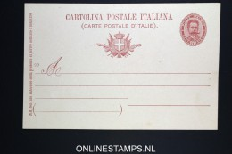 Italy: Cartolina Postal  SA 28 E Unused