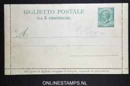 Italy: Biglietto  Postale K11 Unused - 1900-44 Victor Emmanuel III.