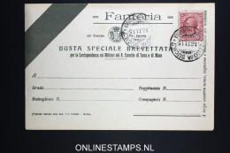 Italy: Fanteria Busta Cover 1915 - 1900-44 Vittorio Emanuele III