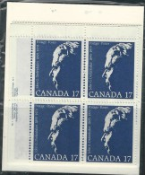CANADA 1980 SCOTT 859 SET OF 4 PLATE BLOCKS VALUE  $ 7,00 - Unused Stamps