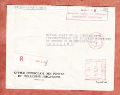 Dienstbrief, Reco, Office Des Postes Et Telecommunications, Postfreistempel, Kinshasa Nach Berlin 1971 (22768) - Dem. Republik Kongo (1964-71)
