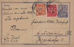 Germany; Infla Postal Card Jan. 12, 1923 - Allemagne
