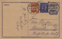 Germany; Infla Postal Card Nov. 13, 1922 - Allemagne