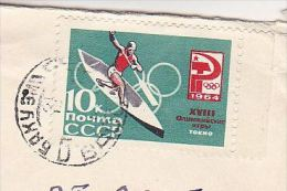 RUSSIA COVER  1964 Olympics  CANOEING Stamps To GB  Olympic Games Sport Canoe - Summer 1964: Tokyo