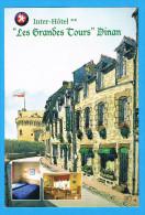 CPM DINAN Inter HotelLes Grandes Tours  6 Rue Du Château 22 Côte D´Armor - Dinan