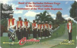 Barbados - Forces Band, 88CBDA, 1996, 66.000ex, Used - Barbades