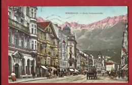 EU-09 Innsbruck   Maria Teresienstrasse. Attelage. Gelaufen In 1910 Nach Schweiz.  Verlag Redlich Innsbruck 643 - Innsbruck