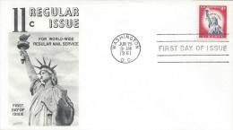 USA STATUE Of LIBERTY Sc 1044A FDC 1961 - 1961-1970