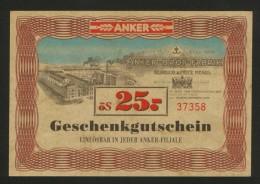 AUSTRIA-BON-ANKER-BROT-FABRIK-BON FOR PAYMENT-GIFT CERTIFICATE - Austria