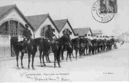 MZART-3- 4e D'Artillerie - Départ Pour Une Manoeuvre - Ct 1909 - Matériel