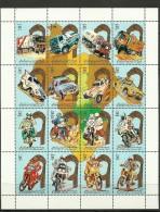 1991-Libya - Minisheet Rally Paris-Dakar- MNH-Motocycles-Cars-Bikes-Autos-Trucks - Motorbikes