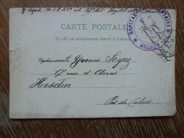 HOPITAL MILITAIRE MENTON - Poststempel (Briefe)