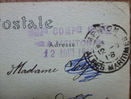 HOPITAL COMPLEMENTAIRE  DE MENTON - Poststempel (Briefe)