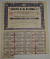 Ateliers De La Motobécane En 1925 à Pantin - Transports