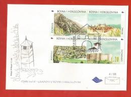 BOSNIA  AND HERZEGOVINA .MEDIEVAL CASTLE- FDC  1998 - Bosnie-Herzegovine