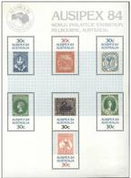 Australia 1984 AUSIPEX 84 World Philatelic Exhibition Stamps S/s Stamp On Stamp Goose Map Kangaroo - Geese