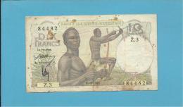 ETATS D´AFRIQUE DE L'OUEST - 10 Francs - 1946 - Pick 37 - French African States - 2 Scans - Estados De Africa Occidental