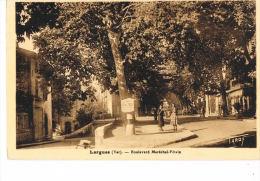 83 -LORGUES  - Var -Boulevard Maréchal PETAIN - Cpsm Sépia  -RECTO VERSO- Paypal Sans Frais - Lorgues